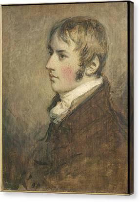 Portrait Of John Constable Aged Twenty Canvas Print by Daniel Gardner