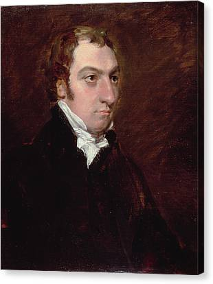 Portrait Of John Fisher, Archdeacon Canvas Print by John Constable