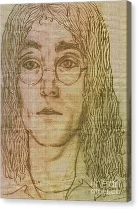 Portrait Of John Lennon Canvas Print by Joan-Violet Stretch