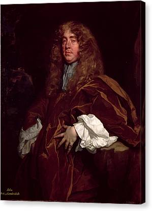 Portrait Of John Maitland, 1st Duke Of Lauderdale 1616-82 C.1665 Canvas Print