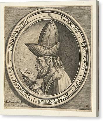 Portrait Of John Viii Paleologos, Antonio Pisanello Canvas Print by Antonio Pisanello And Claes Jansz. Visscher (ii)