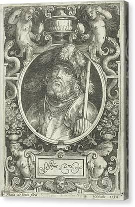 Portrait Of Joshua, Medallion, Nicolaes De Bruyn Canvas Print by Nicolaes De Bruyn