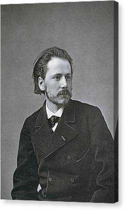 Portrait Of Jules Emile Massenet Canvas Print by French Photographer