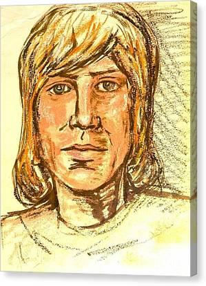 Portrait Of Justin Hayward 3 Canvas Print