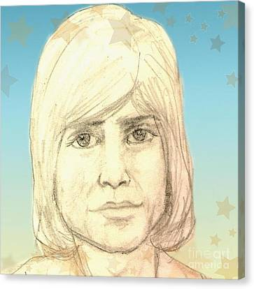 Portrait Of Justin Hayward Canvas Print