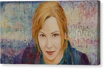 Portrait Of Kat Magda Canvas Print by Ron Richard Baviello