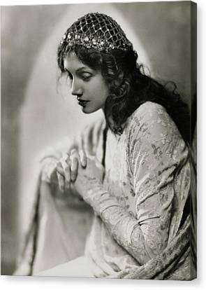 Portrait Of Katharine Cornell Canvas Print by Nickolas Muray