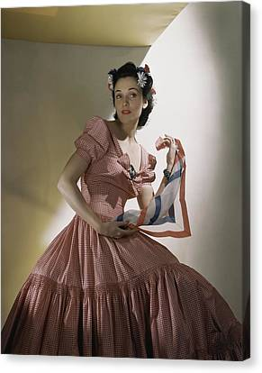 Portrait Of Kay Herman Canvas Print by Horst P. Horst