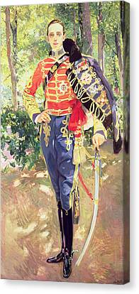 Full-length Portrait Canvas Print - Portrait Of King Alfonso Xiii  by Joaquin Sorolla y Bastida