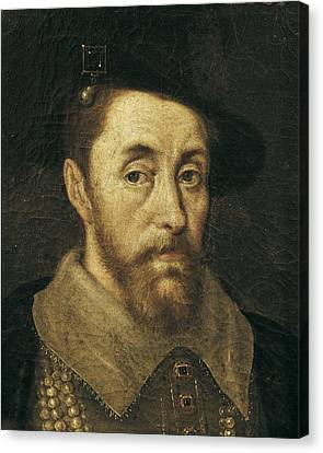 Portrait Of King James I. 17th C Canvas Print by Everett