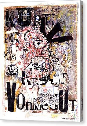 Portrait Of Kurt Vonnegut Canvas Print by Karl Frey