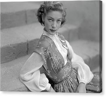 Portrait Of Lauren Bacall Canvas Print