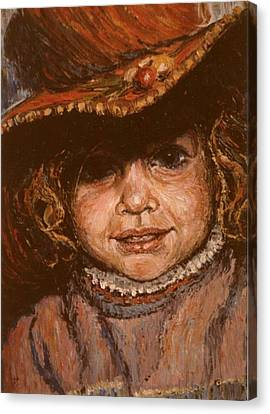 Portrait Of Leticia Canvas Print