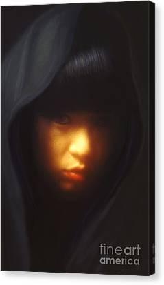 Portrait Of Li Canvas Print by Jeff Breiman