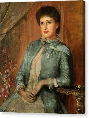 Portrait Of Lillie Langtry Canvas Print by George Frank Miles