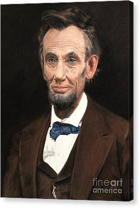 Portrait Of Lincoln Canvas Print