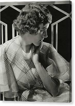 Moran Canvas Print - Portrait Of Lois Moran by Edward Steichen