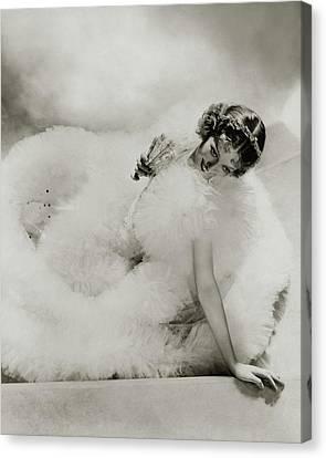 Portrait Of Loretta Young Canvas Print by George Hoyningen-Huene
