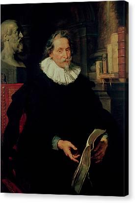 Portrait Of Ludovicus Nonnius C.1553-16456 C.1627 Oil On Panel Canvas Print by Peter Paul Rubens