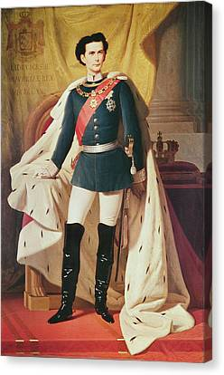 Black Boots Canvas Print - Portrait Of Ludwig II 1845-86of Bavaria In Uniform, 1865 Oil On Canvas by Ferdinand II Piloty