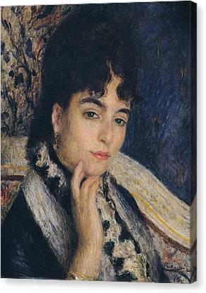 Portrait Of Madame Alphonse Daudet,1876  Canvas Print by Pierre Auguste Renoir