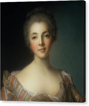Marie-louise Canvas Print - Portrait Of Madame Dupin by Jean-Marc Nattier
