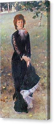 Portrait Of Madame Edouard Pailleron Canvas Print by John Singer Sargent
