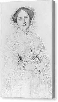 Portrait Of Madame Ingres Canvas Print by Jean Auguste Ingres