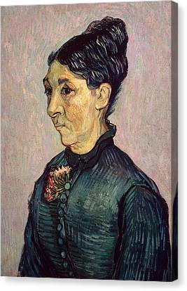 Sombre Canvas Print - Portrait Of Madame Jeanne Lafuye Trabuc by Vincent Van Gogh
