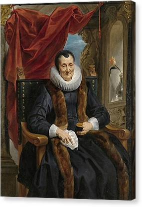 Portrait Of Magdalena De Cuyper Canvas Print by Jacob Jordaens