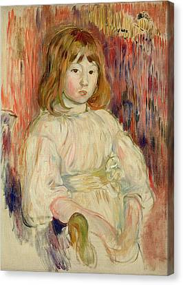 Portrait Of Marcelle, 1895 Oil On Canvas Canvas Print by Berthe Morisot