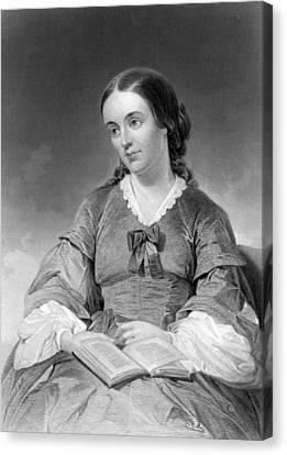Portrait Of Margaret Fuller Canvas Print by Underwood Archives