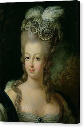 Portrait Of Marie Antoinette De Habsbourg Lorraine Canvas Print
