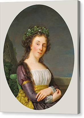 Marie-louise Canvas Print - Portrait Of Marie-louise Joubert, Neé Poulletier De by Litz Collection