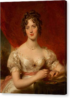 Portrait Of Mary Anne Bloxam Canvas Print by Thomas Lawrence
