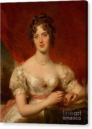 Portrait Of Mary Anne Bloxam Canvas Print