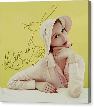 Portrait Of Mary Jane Russell Canvas Print by Frances Mclaughlin-Gill