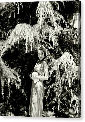 Sullivan Canvas Print - Portrait Of Maureen O'sullivan by Edward Steichen