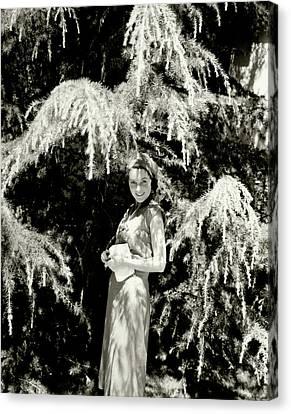 Portrait Of Maureen O'sullivan Canvas Print by Edward Steichen