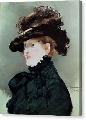 Portrait Of Mery Laurent 1849-1900 1882 Pastel On Paper Canvas Print by Edouard Manet