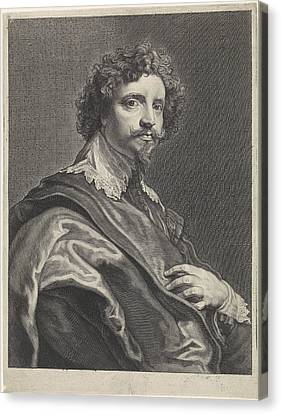 Portrait Of Michael Le Blon, Theodor Matham Canvas Print by Theodor Matham And Anthony Van Dyck