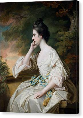 Portrait Of Miss Anne Dutton Canvas Print