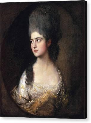 Portrait Of Miss Elizabeth Linley  Later Mrs Richard Brinsley Sheridan Canvas Print by Thomas Gainsborough