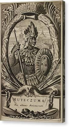 Portrait Of Montezuma II Canvas Print