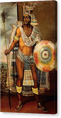 Portrait Of Montezuma II Canvas Print