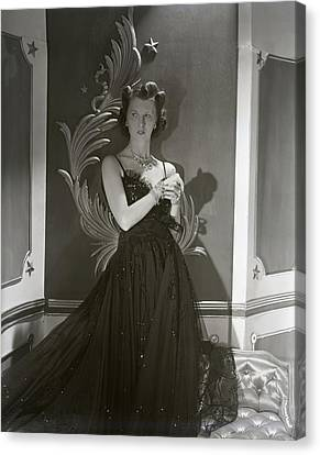 Portrait Of Mrs. John Jacob Astor In A Ball Gown Canvas Print by Horst P. Horst