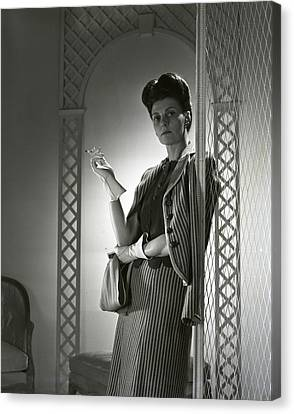 Portrait Of Mrs. Michael Arlen Canvas Print by Horst P. Horst