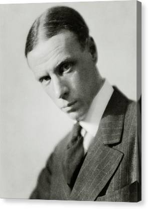 Portrait Of Novelist Sinclair Lewis Canvas Print by Nickolas Muray