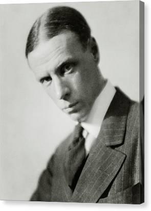 Portrait Of Novelist Sinclair Lewis Canvas Print by Nicholas Muray