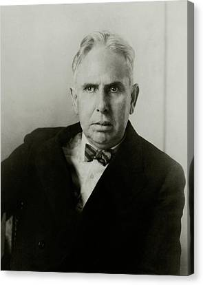 Portrait Of Novelist Theodore Dreiser Canvas Print by Charles Sheeler